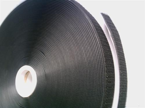 Klettband  Hakenband 25m schwarz selbstklebend