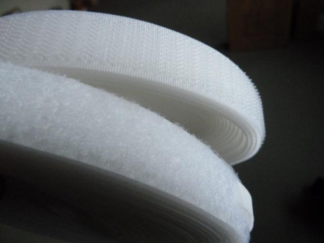 Klettband  Flauschband 25m weiss selbstklebend